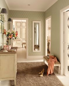 The decoration of the corridors is often not taken into account at home, since the attention is usually focused on […] Hall Deco, Interior Decorating, Interior Design, Cottage Interiors, Apartment Interior, Cozy House, Home Design, Home Decor Inspiration, House Colors