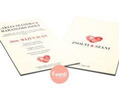 Ötletes ujjlenyomatos esküvői meghívó | Creative fingerprint wedding invitation card