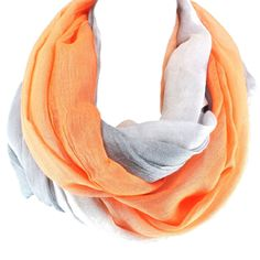 Infinity Ombre Scarf Orange Taupe