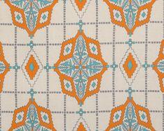 Sienna Manderin/Dossett Drapery Fabric by Premier Prints Drapery Panels, Drapery Fabric, Moroccan Fabric, Premier Prints, Pouf Ottoman, Cotton Fabric, Kids Rugs, Handmade Gifts, Quilts