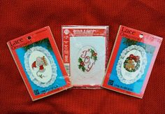 Christmas Counted Cross Stitch Kits  Set of by DocksideDesignsEtc, $4.50