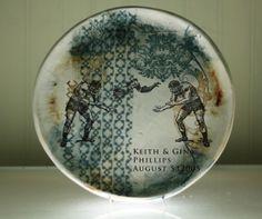 Wedding Cake Plate - Personalized Plate - Salad Plate - Heirloom Wedding Gift - NLB