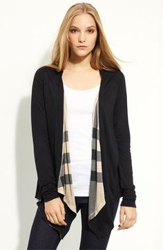 Burberry Brit Drape Front Cardigan available at #Nordstrom