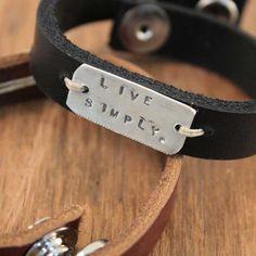 leather bracelets.