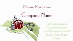 Retro Green Fabric Red Tomato Pin Cushion Sewing Business Cards http://www.zazzle.com/dressmaker_sewing_seamstress_double_sided_standard_business_cards_pack_of_100-240975602612554338?rf=238835258815790439&tc=GBCSewing1Pin