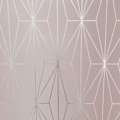 Brand new from Muriva comes this stunning Kayla wallpaper collection Featuring an on trend geometric foil pattern forming a beautiful geometric design on a heavyweight blush background Perfect for any room in the house Pink And Silver Wallpaper, Geometric Wallpaper Charcoal, Blush Wallpaper, Metallic Wallpaper, Paper Wallpaper, Vinyl Wallpaper, Textured Wallpaper, Wallpaper Designs, Tapete Pink