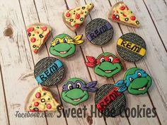 Mutant Ninja Turtle Cookies ala Sweet Hope Cookies