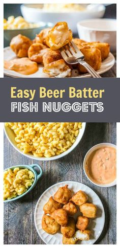 Easy Beer Batter Fish Nuggets - tasty sriracha tarter sauce too!