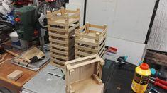 Fabriquer des cagettes pour une marchande / théâtre en bois pour enfants
