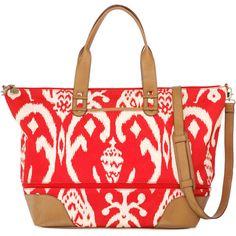 Stella & Dot Getaway - Red Ikat (845 CNY) found on weekender bags周末旅行包20130707