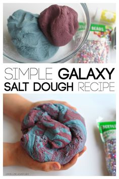 Simple Galaxy Salt Dough Recipe. This would make a great gift