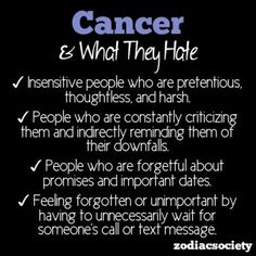 What Cancer Hates - except for that last one...I could care less ...
