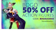 BOGO 50% OFF ACTION FIGURES | CODE: BOGOLICIOUS Business Sales, Going Out Of Business, Discover Yourself, Action Figures, Coding, Entertaining, Funny, Programming
