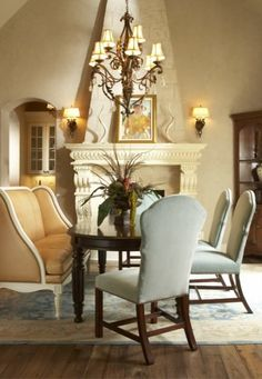 traditional gold dining room