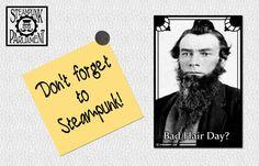 Bad Hair Day  Funny Steam Meme Refrigerator by SteampunkParliament