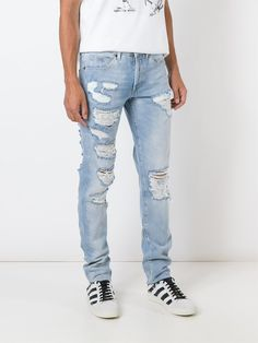 Off-White ripped jeans