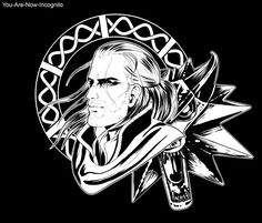 Black and white - Geralt of Rivia by YouAreNowIncognito