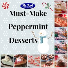 Must-Make Peppermint Desserts - Get in the holiday spirit this season with our favorite peppermint treats.