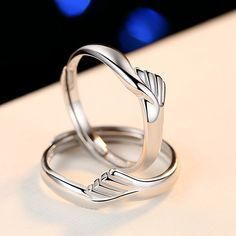 "Say ""I do"" with sophisticated style. Couple rings of this style feature a cute hug whose meaning is to hold hands and spend the rest of the life together. Moreover, the adjustable design and the high polished finish is to better fit your fingers. As a very responsible store, we offer considerate and timely pre-sales and after-sales services. Womens Wedding Bands, Wedding Ring Bands, Chrome Hearts Ring, Love Knot Ring, 10k Gold Ring, Tungsten Mens Rings, White Topaz Rings, Great Gifts For Mom, Gold Plated Rings"