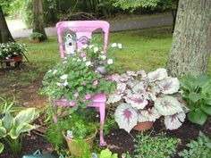 Pink Chair Planter