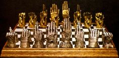 Klaus Voormann designed this chess set for Ringo Starr