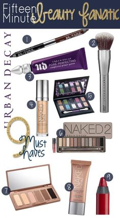 9 Urban Decay Must Have Products via @15minbeauty