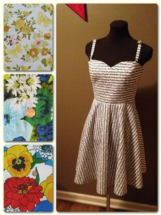 Hey, I found this really awesome Etsy listing at https://www.etsy.com/listing/209601169/retro-dress-made-with-vintage-fabrics