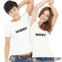 Kaos Couple Hubby Wifey T-Shirt Baju Couple Mr Mrs, Boss Lady, Love, Pairs, Couples, Bridal, T Shirt, Wedding, Fashion
