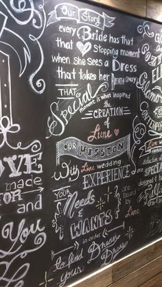 Chalkboard Art created for L'une Wedding by Inness Ho
