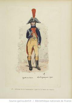 [Grenadiers-gendarmes, gendarmerie d'élite de la garde des consuls et de la garde impériale, 1793-1815 / Notes et aquarelles par E. Fort.] - 22