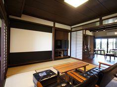 和室でホームシアター