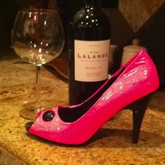 Hot Pink, Duct Tape Heels for 80s Prom Party!