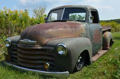 51 Chevy truck Same year, model, and condition as Dustin's. I can't wait until he restores it or turns it into a rat rod.