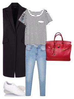 Без названия #8 by dudarevamariya on Polyvore featuring polyvore, fashion, style, H&M, MANGO, Hermès, Le Coq Sportif and clothing