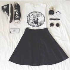 5 Seconds Of Summer shirt with skater skirt 5SOS