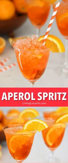 Aperol Spritz Recipe Aperol Spritz recipe is an easy skinny cocktail drink! A refreshing low calorie sparkling Italian cocktail perfect for any occasion! A delicious combination of sweet prosecco with bitter citrus flavors garnished with orange slices. Prosecco Drinks, Cocktail Drinks, Cocktail Recipes, Sangria, Spritz Recipe, Dessert Oreo, Low Calorie Cocktails, Beste Cocktails, Italian Cocktails