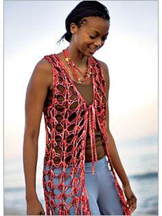 Ravelry: Siren Vest pattern by Doris Chan  And my crochet patterns are at www.TamaraSlack.org