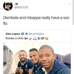 If Dembele and Mbappe had a son Football Comedy, Football Memes, Sports Memes, Messi Soccer, Sons, Funny, Manga, Instagram, Life