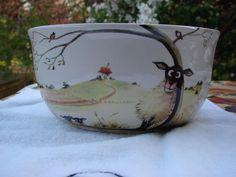 Silly Sheep Large Ceramic Yarn Bowl / Yarn by birdlandparadis