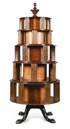 PROPERTY FROM THE GUINNESS TRUSTS AND COLLECTIONS A Regency style mahogany and ebony strung circular bookcase