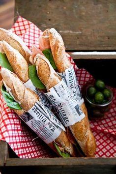 Baguette Sandwich, and a little wine s'il vous plaît...