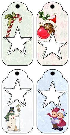 A imprimer: Etiquettes pour les cadeaux de Noël... 2