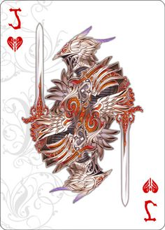 Medusa_Playing_Cards_The_Jack_of_Hearts_Old Playing Cards Art, Custom Playing Cards, Jack Of Hearts, World Of Fantasy, Detail Art, Heart Cards, Deck Of Cards, Medusa, Cool Artwork