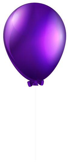 Purple Balloon Transparent PNG Clip Art Image