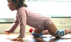 check out those knee pads, perfect for soft baby knees :) Love Crawlings!