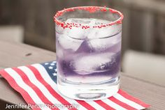 Purple Independence:  1/2 ounces raspberry vodka 1/2 ounce blueberry schnapps 1/2 ounce cranberry juice 1/2 ounce sweet & sour mix