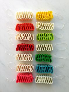 Ribbon Candy Felt Ornaments | Purl Soho - Create