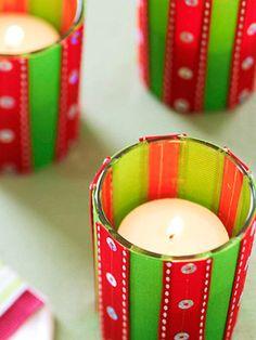 Crafty Christmas Candle Displays