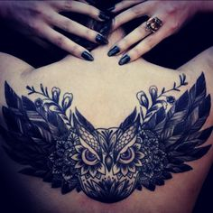 <3 #owl #tattoo although I don't want a tattoo, this is beautiful! @Angela Gray Reinhardt