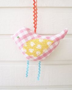 Bird decor hanging soft toy baby home decoration by poppyshome